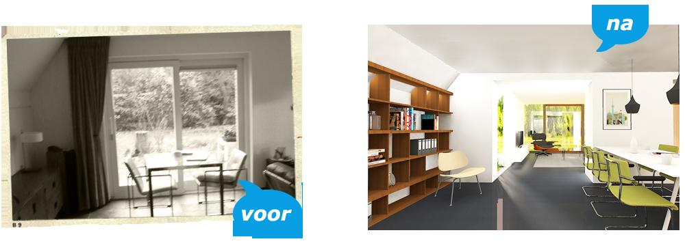 Meneer helderder stappenplan renovatie verbouwing - Voor na gerenoveerd huis ...