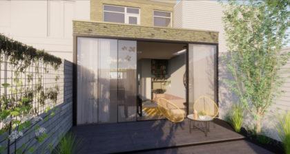 Renovatie en uitbouw jaren '20 huis Haarlem